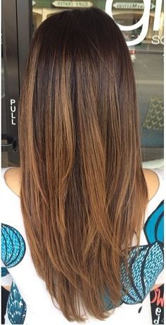 dark brown balayage straight - Google Search