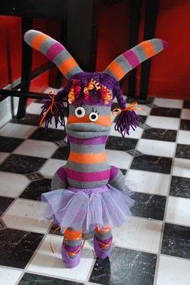 A cute sock monster