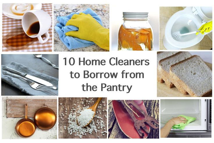 '10 Home Cleaners to Borrow from the Pantry...!' (via bobvila.com)