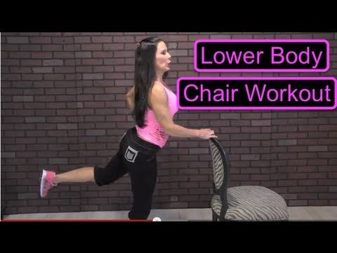 ▶ Fitness: Lower Body Chair Workout with Laura London Fitness - 10 min.