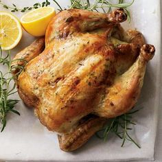 Ina Garten's Perfect Roast Chicken: I can't tell you how many times I've made this! Foolproof and simply the best way to do roast chicken!