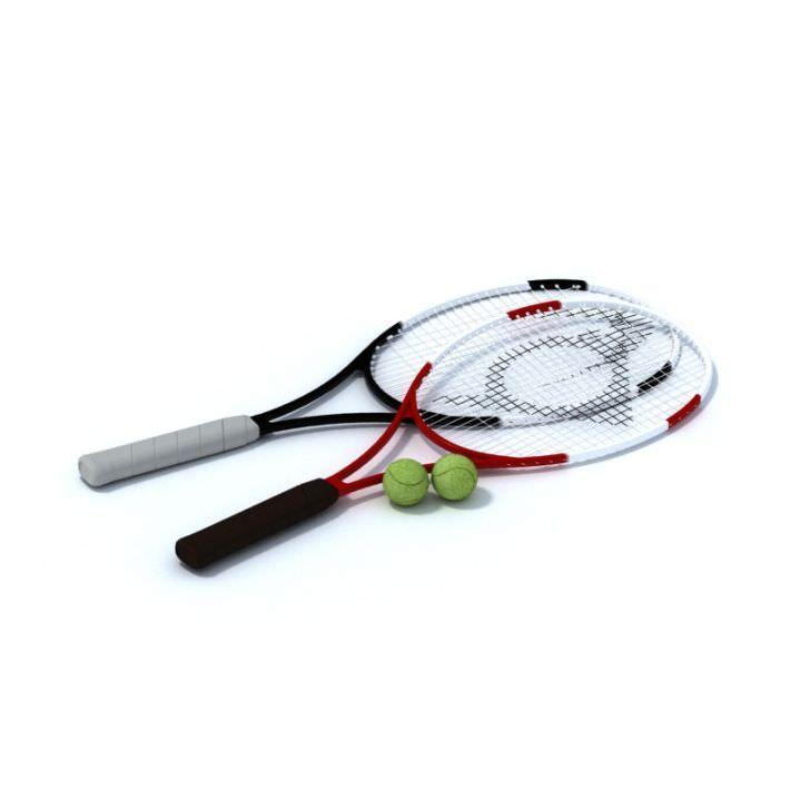 Tennis Rackets Balls 3d Model Tennis Racket Rackets Tennis