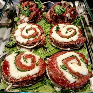 Impress your dinner guests with flank steak pinwheels filled with spinach and mozzarella! Cooks fast and looks amazing!