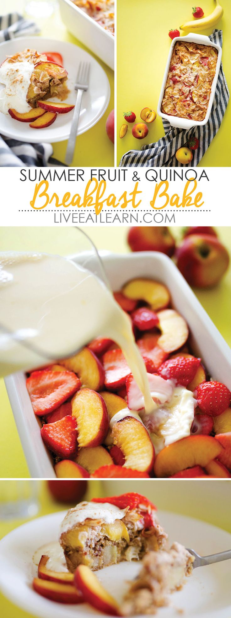 This Summer Fruit and Quinoa Breakfast Bake recipe is a healthy, whole-grain way…