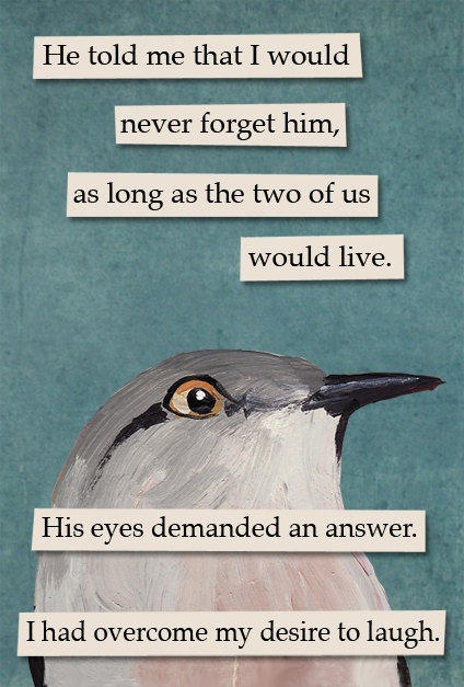Answer - bird RECTANGLE MAGNET. $4.50, via Etsy.