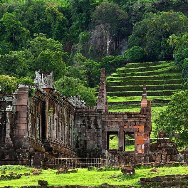 Wat Phou #Champasak #Laos  #UNESCO #WorldHeritage #Asia #ASEAN #LaosPictures #WatPhou