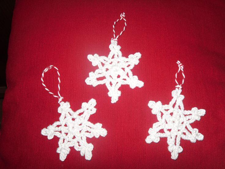 Flocos de neve para árvore de Natal
