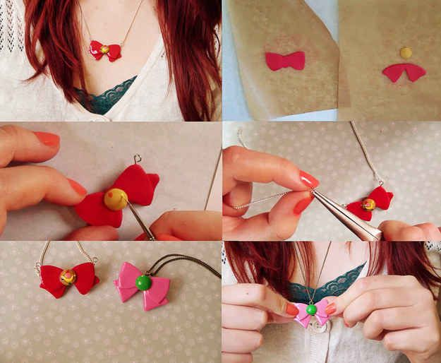 Craft a beginner-level Sailor Moon bow necklace and show off your mad