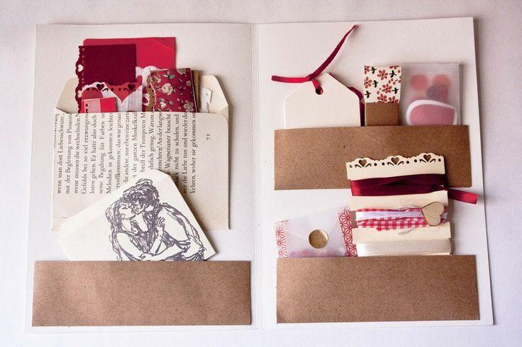 scrapbooking set vintage herzen von b r von pappe auf recycled paper and notebooks. Black Bedroom Furniture Sets. Home Design Ideas