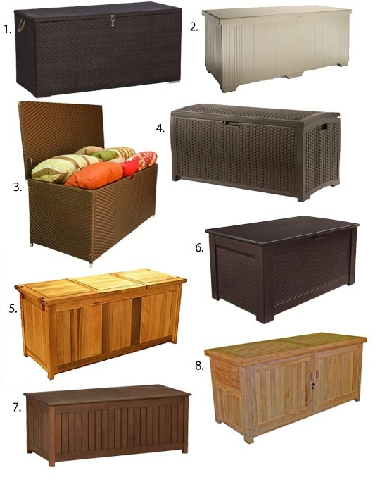Small E Outdoor Storage Chests That Double As Benches For The Porch Patio Pool