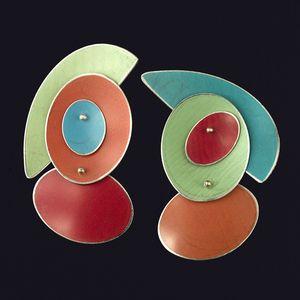 Jean-Pierre Hsu & Carol Hsu, Anodised Aluminium earrings