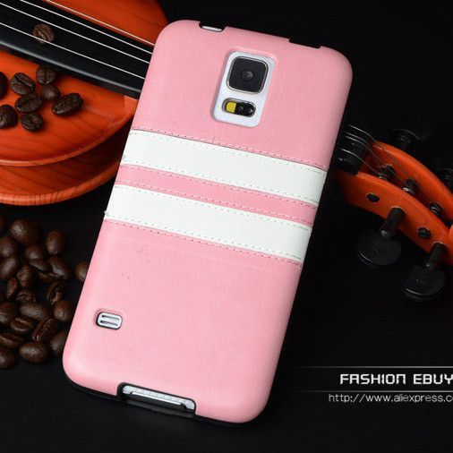 """Luxury PU Leather Fashion Soft Back Case Cover for Samsung Galaxy S5 SV I9600 S 5 G900F G900H 5.1"""" Mobile Phone Protective Bag"""