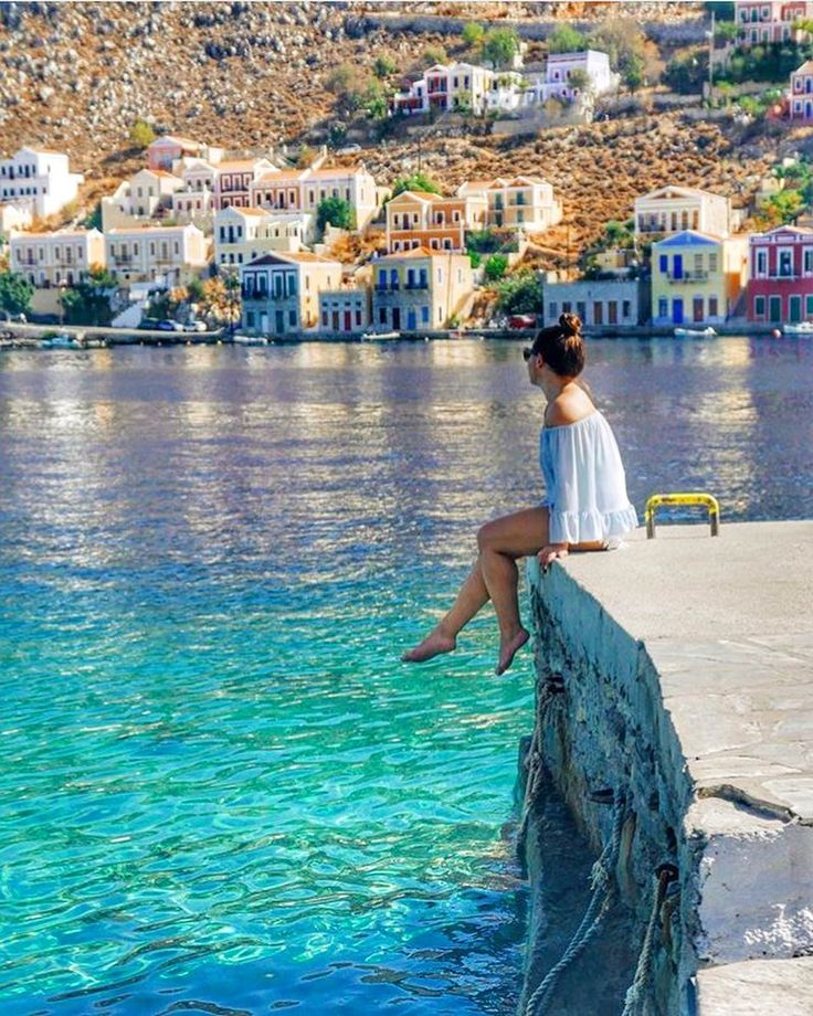 Greek summer dreaming as the temperature drops in Northern Europe   by @nadia_dailyself