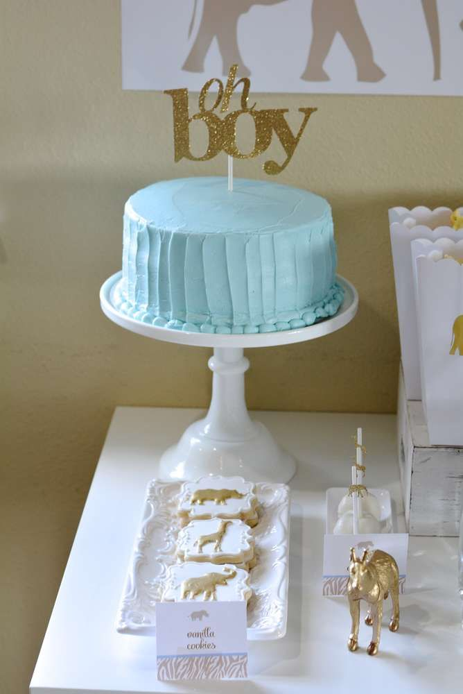 An gorgeous Safari inspired Baby Shower! Just goes to show how something simple can be so sophisticated! See more party ideas at CatchMyParty.com