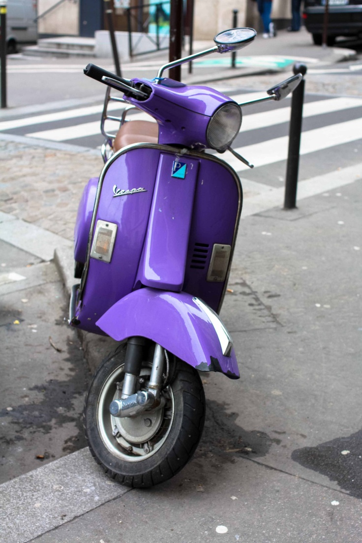 paris photography purple vespa in paris france vespa pinterest paris paris photography. Black Bedroom Furniture Sets. Home Design Ideas