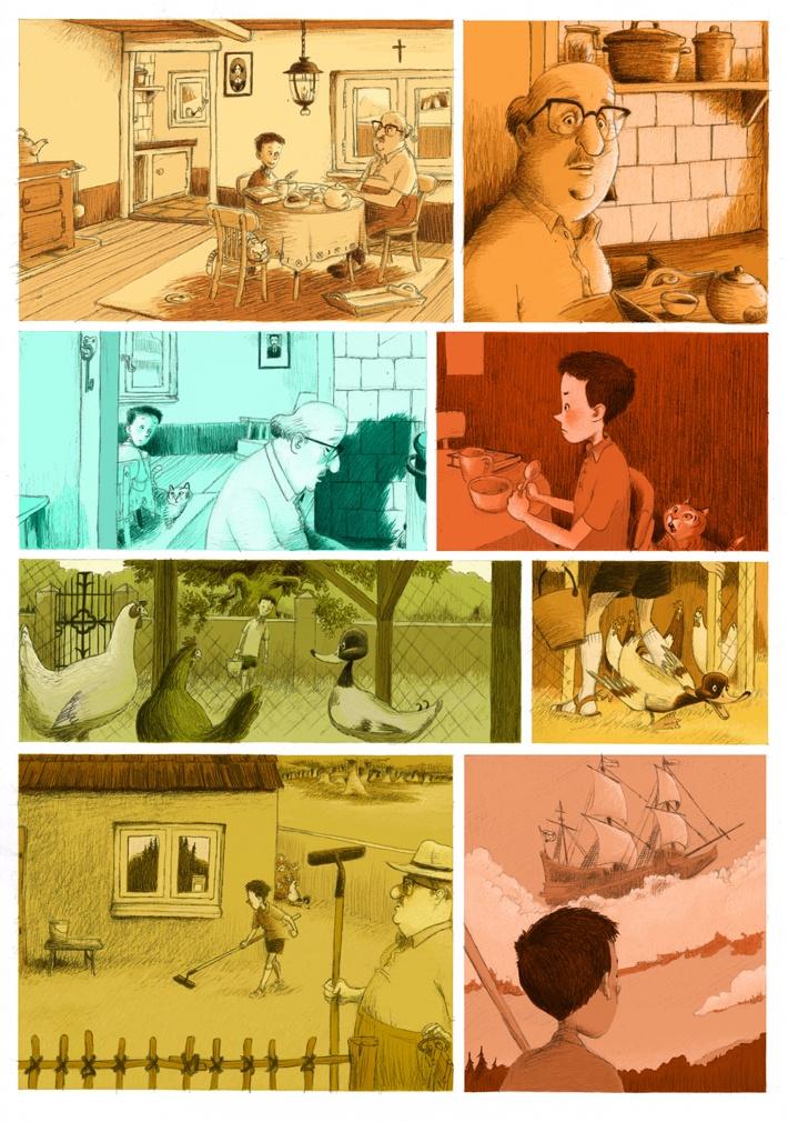 Graphic Novelette, based on Peter & the wolf by Wilbert van der Steen, via Behance