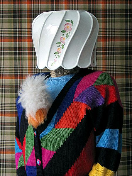 Summer knits! Patchwork mutations teamed with durable offroad polyurethane bonnet & Basil Brush chest accents