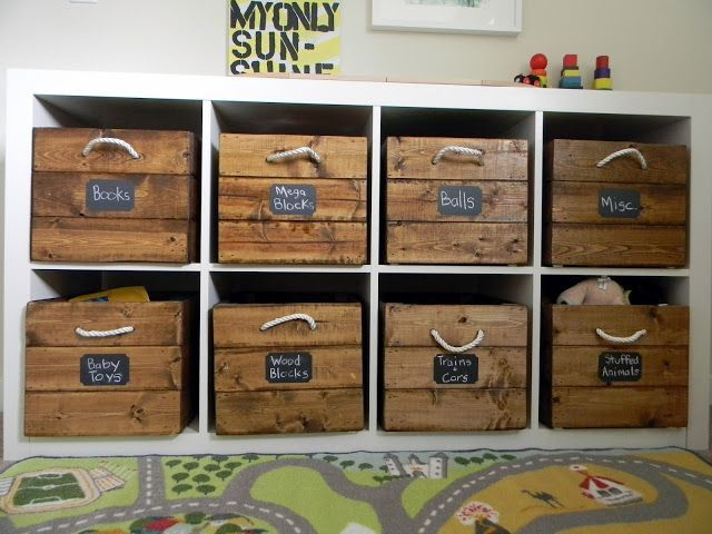 mommo design: IKEA HACKS - Expedit and vintage crates for toys