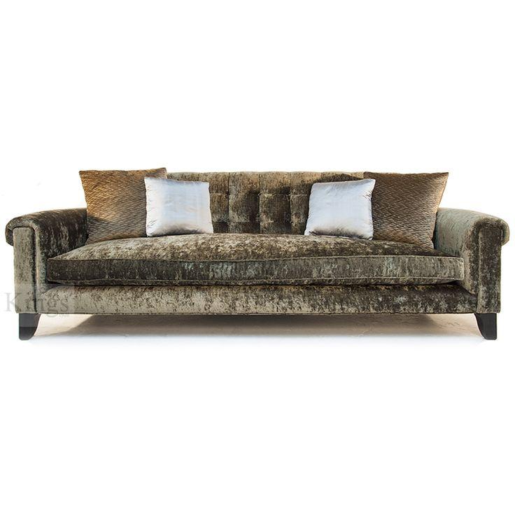 John Sankey #Upholstery Mitford Club #Sofa in Bronze velvet fabric http://www.kingsinteriors.co.uk/