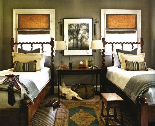 Great boys roomWall Colors, Guest Room, Guest Bedrooms, Boys Bedrooms, Gray Bedroom, Kids Room, Boy Rooms, Twin Beds, Boys Room
