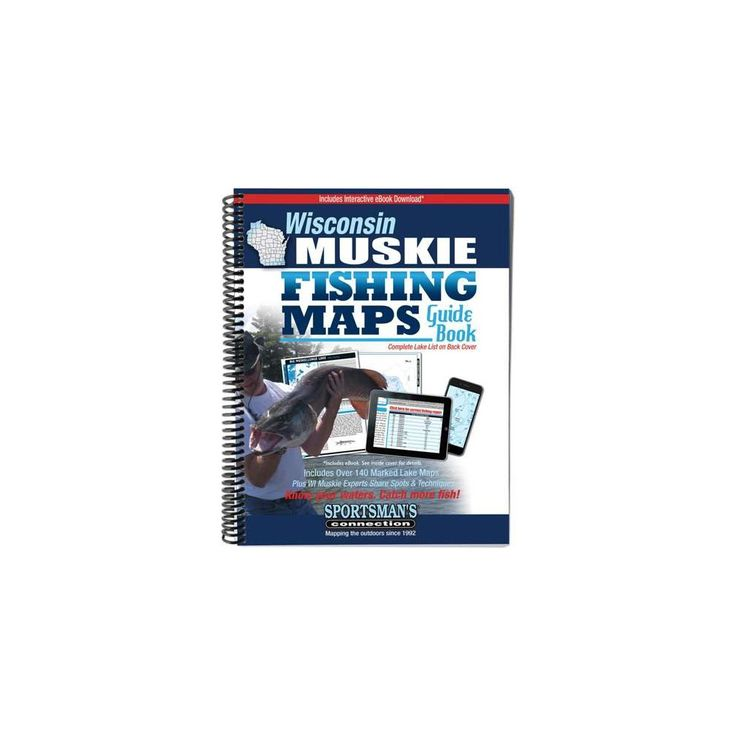 Wisconsin Muskie Fishing Maps Guide Book (Paperback)