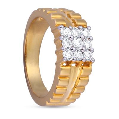 Arnav Ring: Rs.40,444    #gold #ring #mens #swarovski