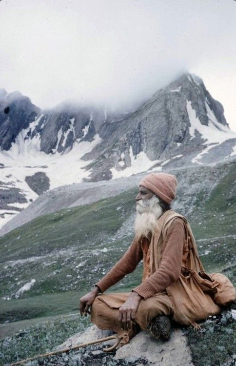 Meditation in the mountains....