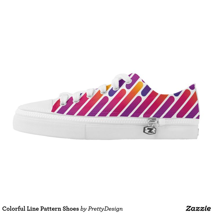 Colorful Line Pattern Shoes
