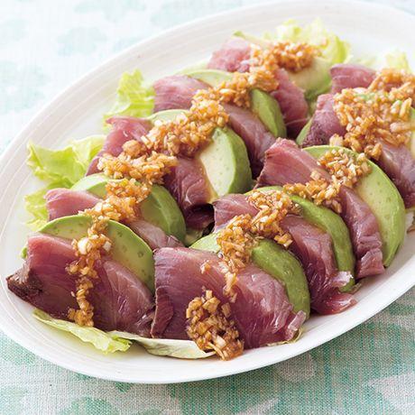 かつおとアボカドの香味カルパッチョ | 栗山真由美さんの料理レシピ | プロの簡単料理レシピはレタスクラブニュース