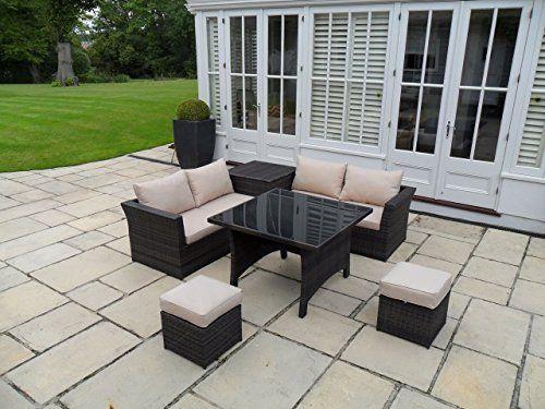 Porto Rattan Garden or Conservatory Furniture Corner Sofa Set  Price Β£459