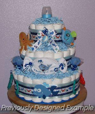 Boy Baby Shower Gift Ideas Sea Creatures Diaper Cake