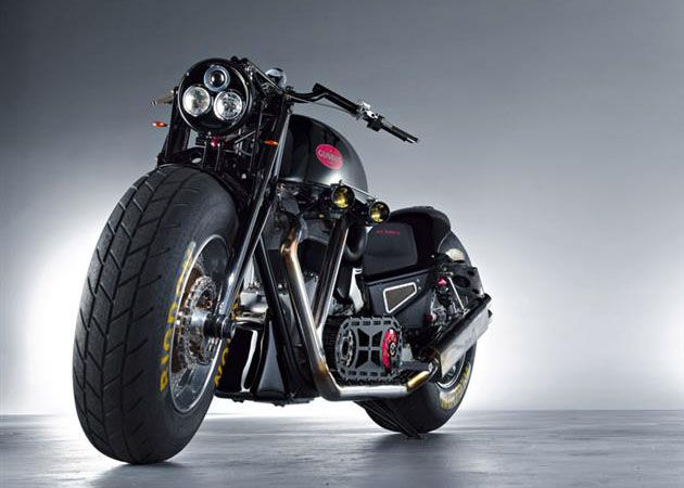 Gunbus 410 Motorcycle 7 is a 5' tall motorcycle making it the largest in the world. 6.7L v-twin motor putting out 350HP and over 500lb-ft of torque. $350,000