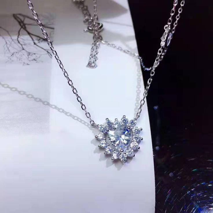 Zirkonhalsketten 925er Sterlingsilber   – collares plata925 circonitas