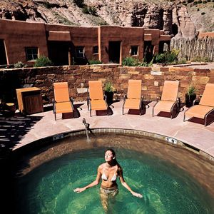 Head out to Santa Fe, NM for a unique hot springs spa experience. Get in touch with nature and the desert during a rugged weekend escape.