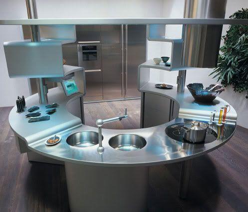 111 best Futuristic kitchen images on Pinterest | Kitchens, Kitchen ...