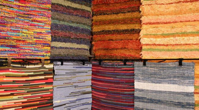 Recycled Rugs from Homestead Weaving Studio ... handwoven with care in Indiana and healthy for the environment!