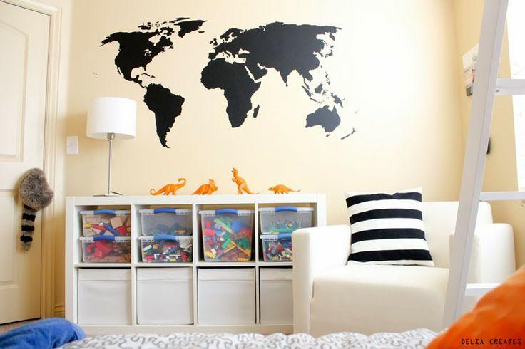 delia creates: World Map Vinyl & $50 Giveaway!