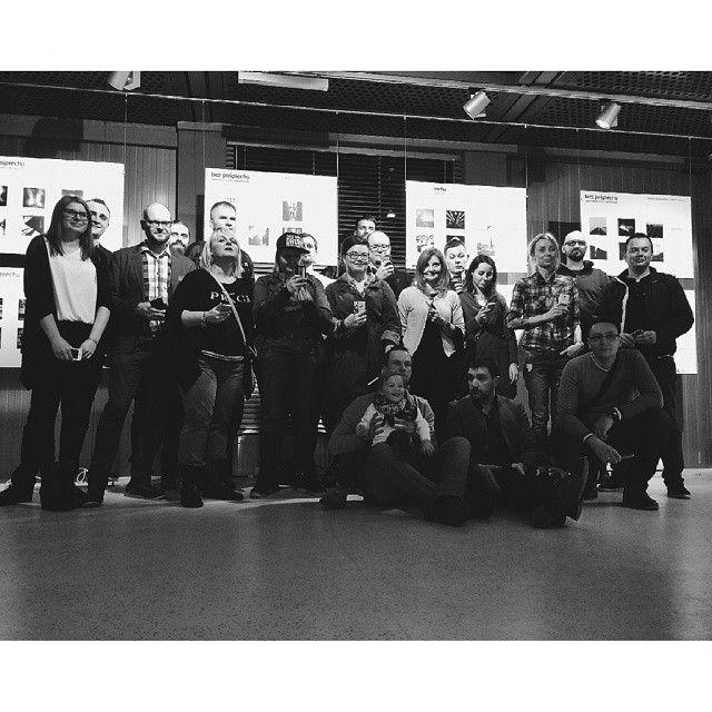 """""""Without Haste"""" Exhibition in Gdynia - a group photo is always a must ! Wystawa w gdyńskim InfoBoxie.  Dziękujemy, że byliście."""