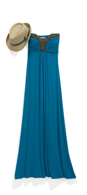 We Guarantee You Cool Princesses Reach For This Figure Flattering Maxi Dress With Its Glam Beaded Neckline And Empire Seams Again From Ny Place