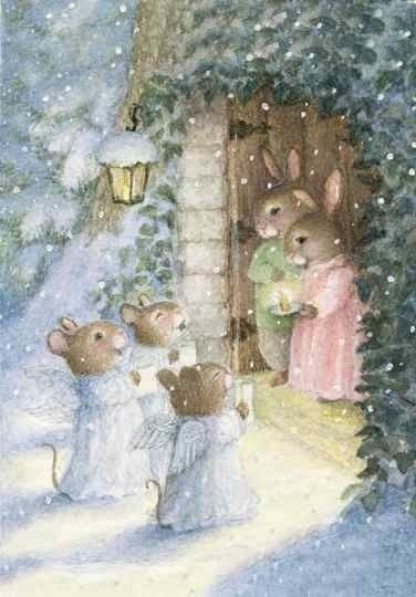 Image detail for -another adorable holly pond hill christmas card with artwork by susan ...