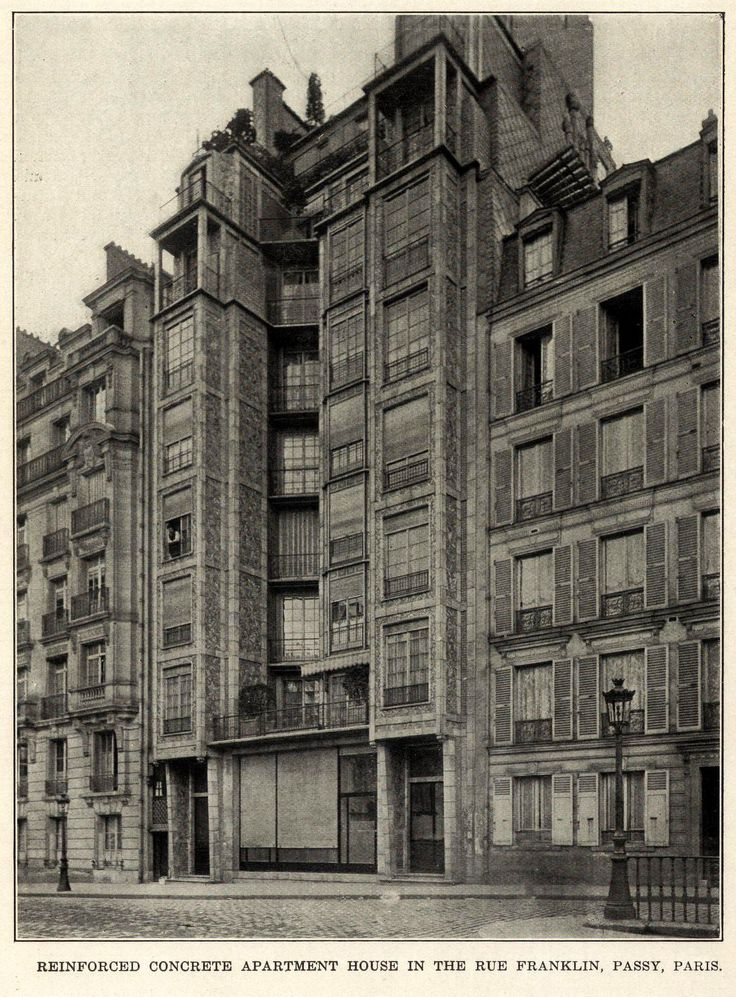 Apartment building on Rue Franklin, Paris
