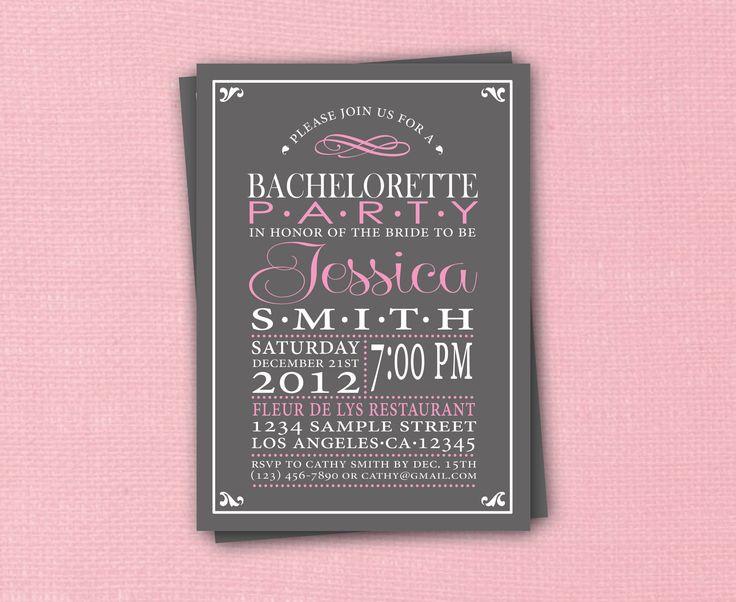 Bachelorette Party Invitation Hen's Night by CreativeStarDesigns