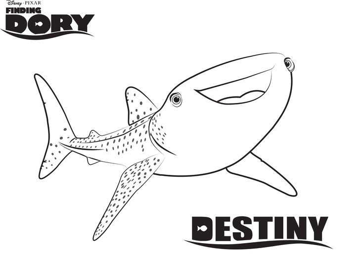 Disney's Finding Dory Coloring Pages Sheet, Free Disney Printable Finding Dory Color Page