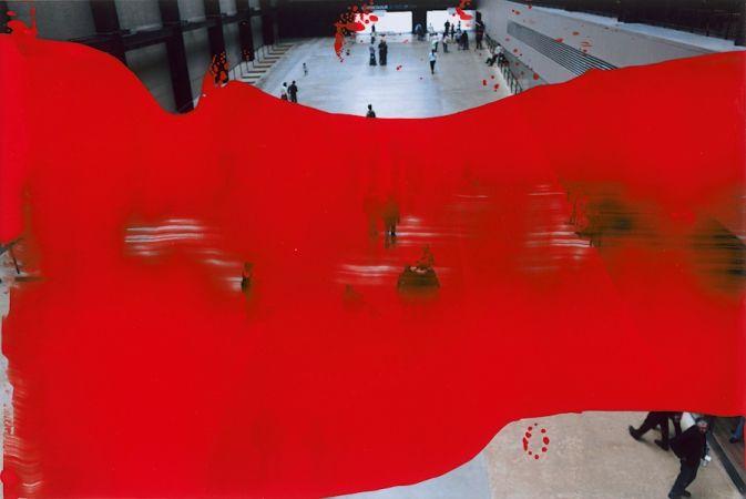Посещение музея, 2011. Цветная фотография, лак