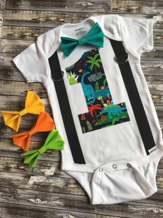 e4f909909 Boys first birthday dinosaur onesie/ dino theme 1st birthday cake ...