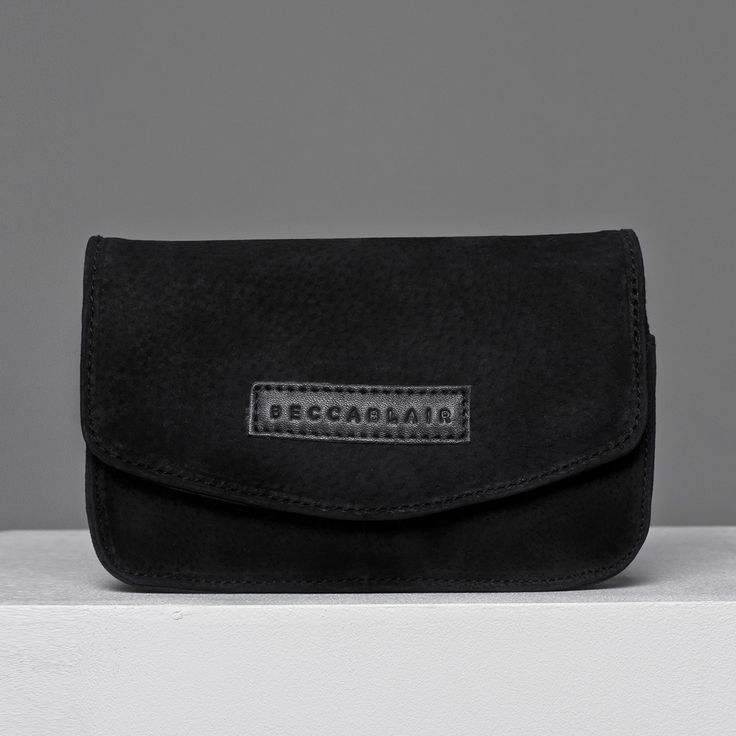 The Black suede Jake bag - Made in South Africa.