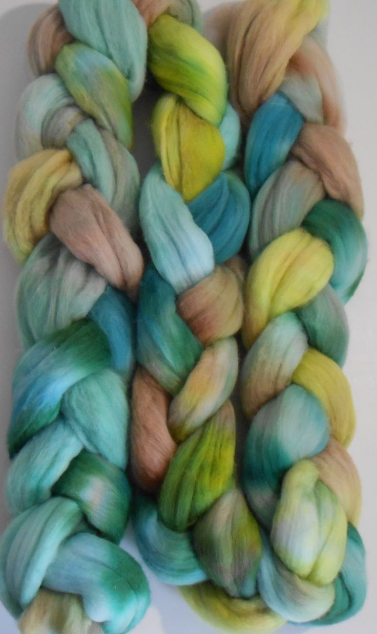 Handdyed NZ Merino wool roving top supersoft - Jade Dragon for spinning or knitting, felting, nuno felting and weaving by FeltCreativeNZ on Etsy