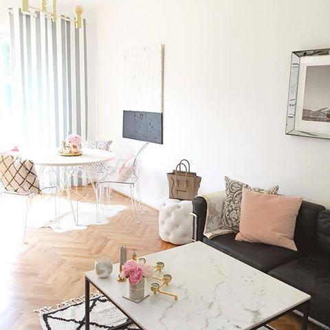 Das absolute It-Piece für Interior-Lover: Der Mamor- Couchtisch ✨ Perfekt um deinem Wohnzimmer den letzten Schliff zu geben und den Tisch zusätzlich noch dekorieren zu können. // einrichten cozy @scando_blog