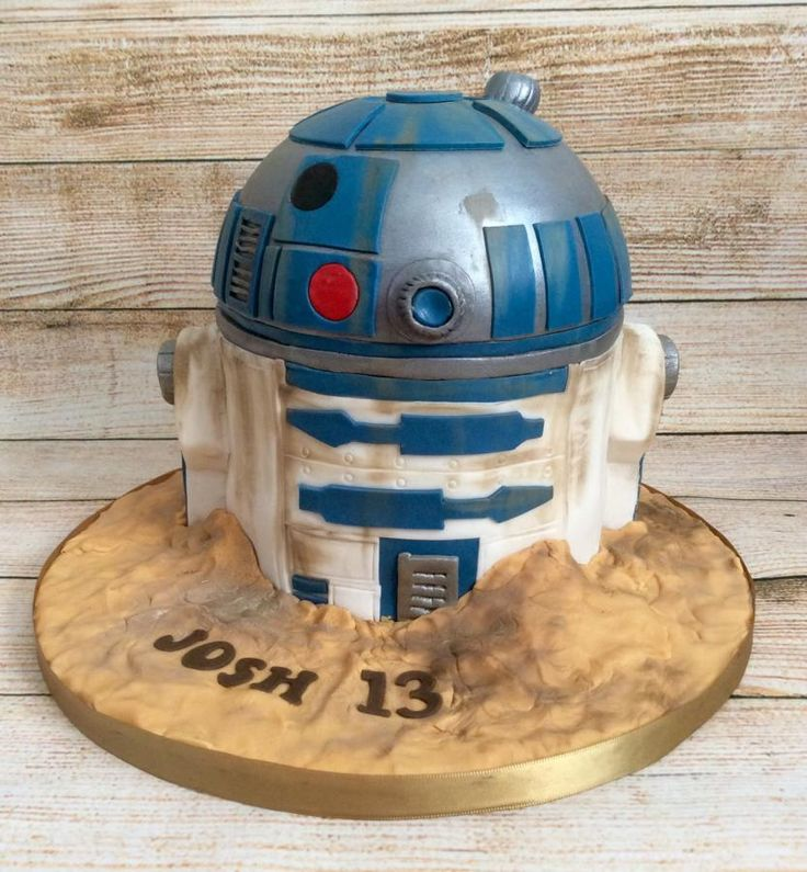 R2-D2 cake - Cake by Lizzie's Cakes