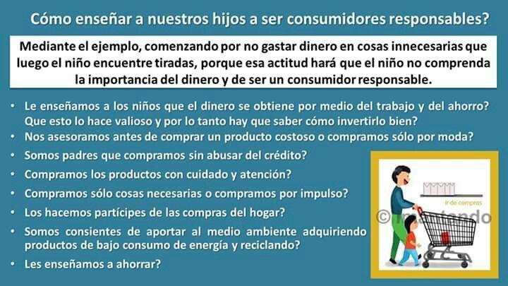 #FelizViernes, hoy día del #BlackFridayColombia o del #ColombiadeCompras, vale la pena recordar que los #niños aprenden a través del ejemplo y que serán consumidores responsables en la medida que los padres y demás adultos lo seamos.